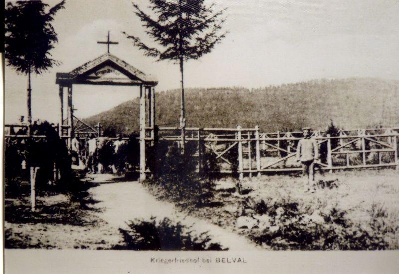 Cimitirul german din Belval în 1916, fotografie de epocà din colectia d-lui Hubert BOPP
