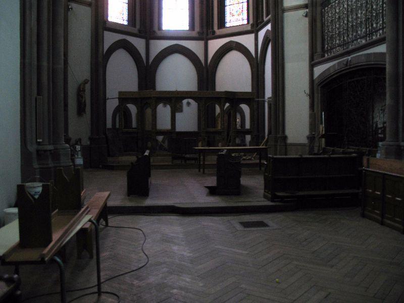 Sol - parquet église en 2007